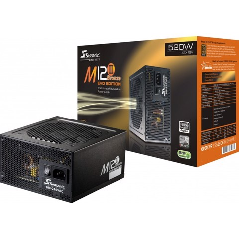 Seasonic M12II 520 - 80 Plus Bronze PSU