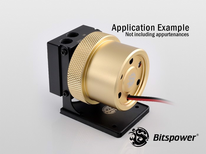 Bitspower D5 MOD Package (Black POM TOP S + MOD Kit V2 Golden)