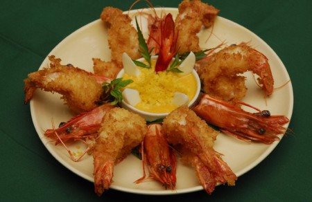 Fried cripy salty shrimp
