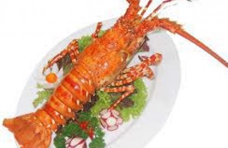 Steamed special lobster