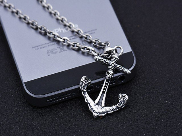 Mặt Dây SILVER PIRATE ANCHOR PENDANT - MB050