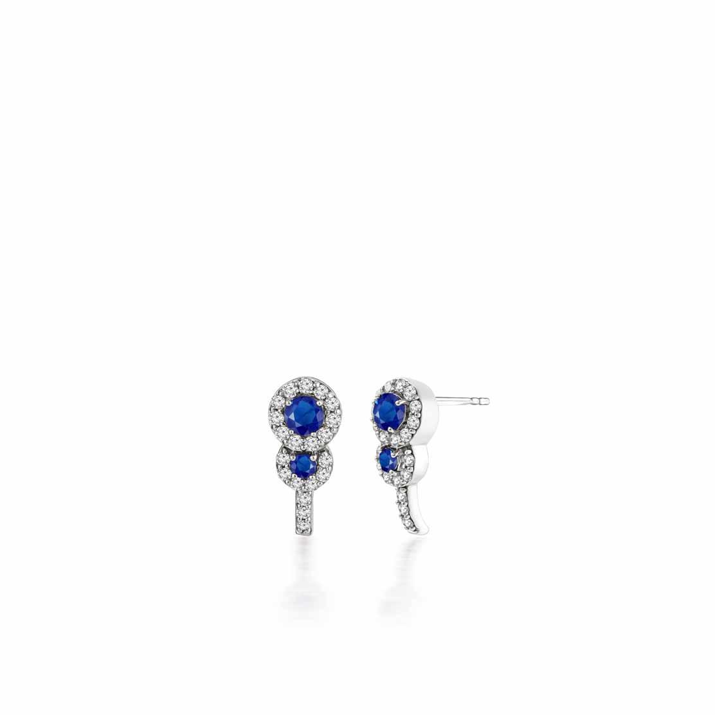 Hoa tai kim cương Sapphire Stud