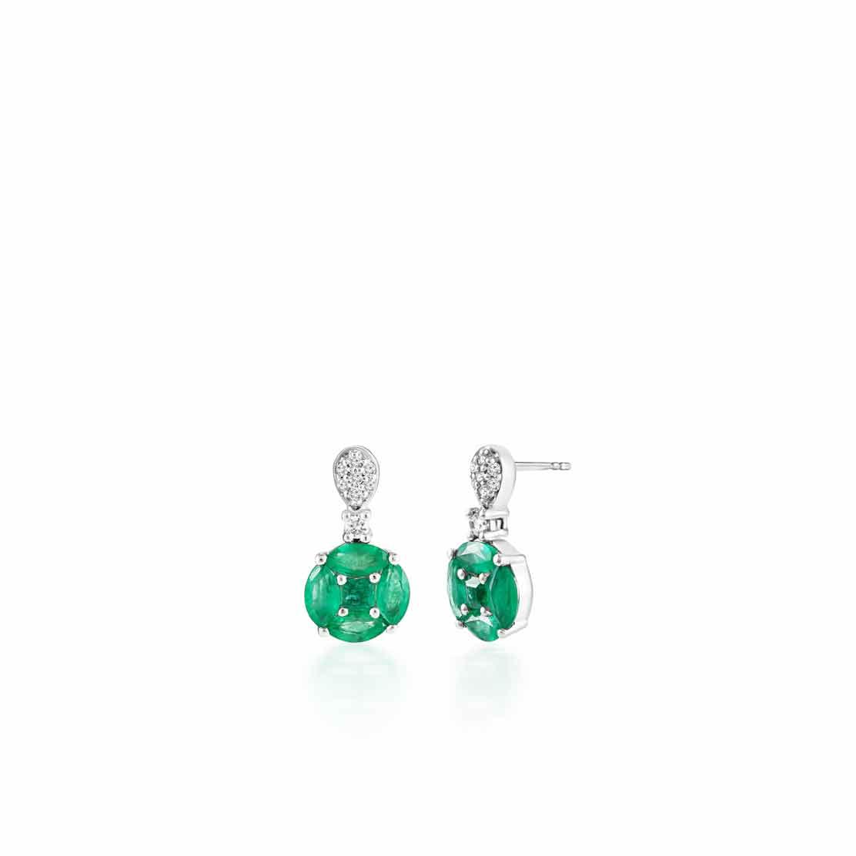 Hoa tai kim cương Emerald Flower
