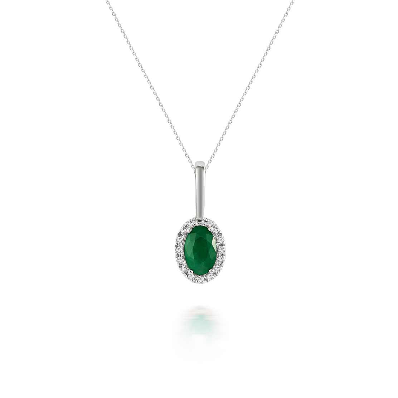 Mặt dây kim cương Emerald Drop
