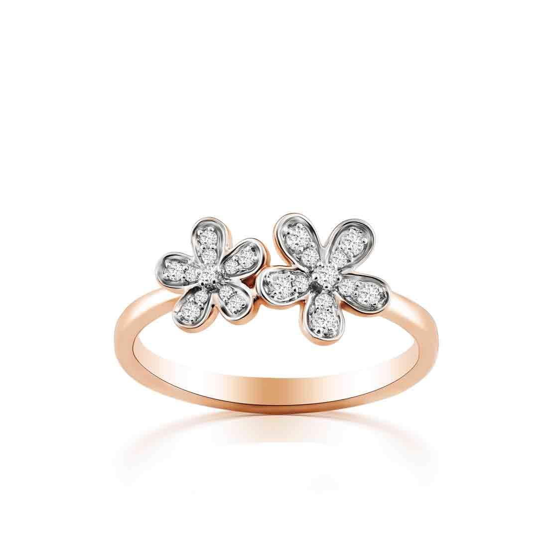 Nhẫn kim cương Flowers