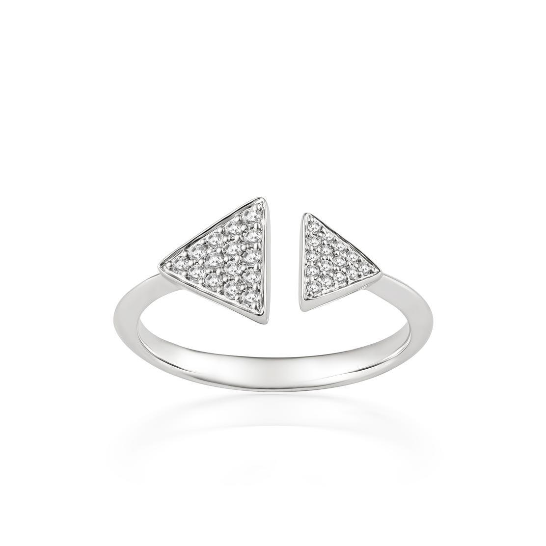 Nhẫn kim cương Geo-Triangle