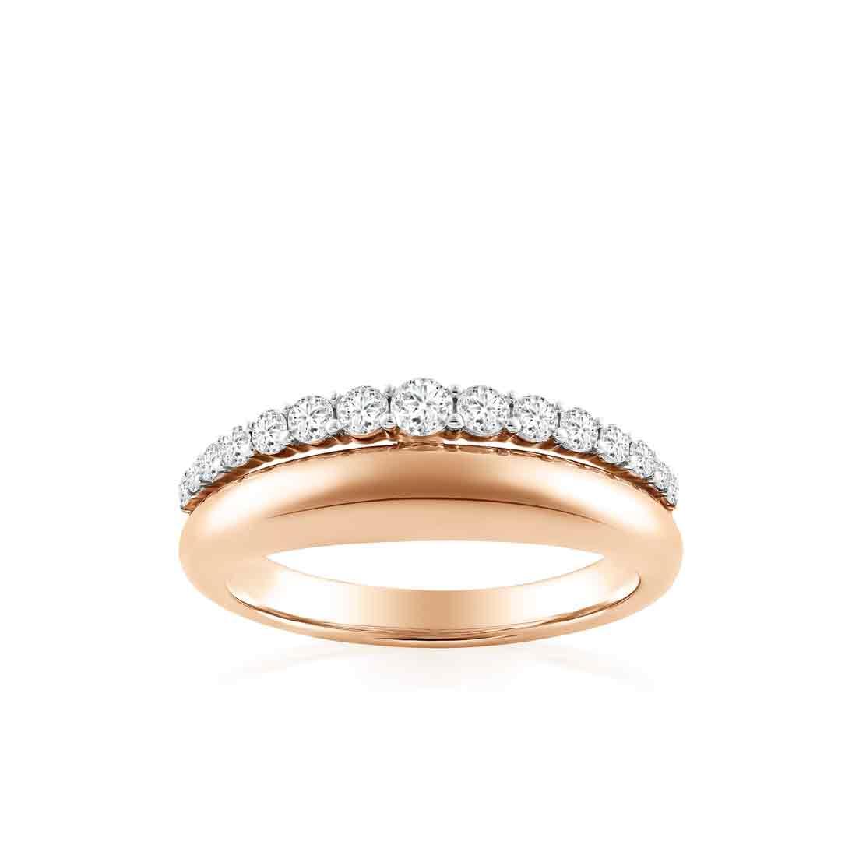 Nhẫn kim cương Rose Crown