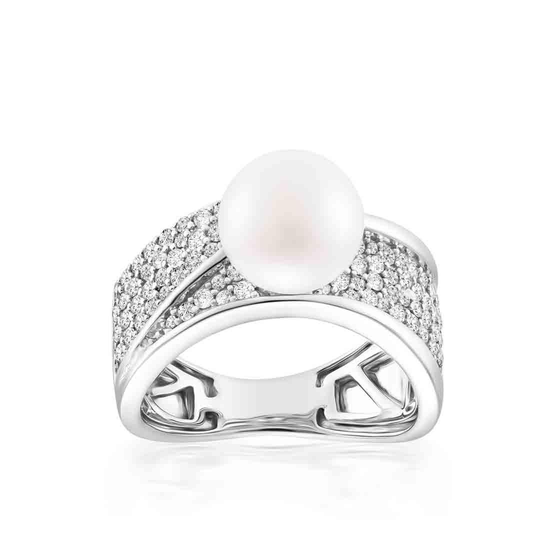 Nhẫn kim cương Pearlie Beauty