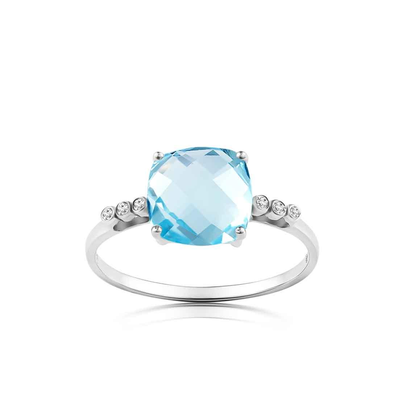 Nhẫn kim cương Topaz Love