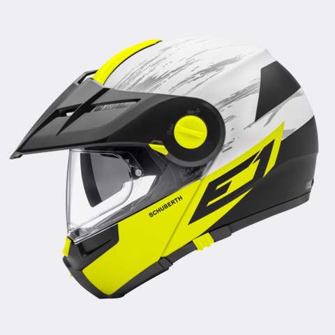 NÓN LẬT CẰM SCHUBERTH E1 CROSSFIRE YELLOW