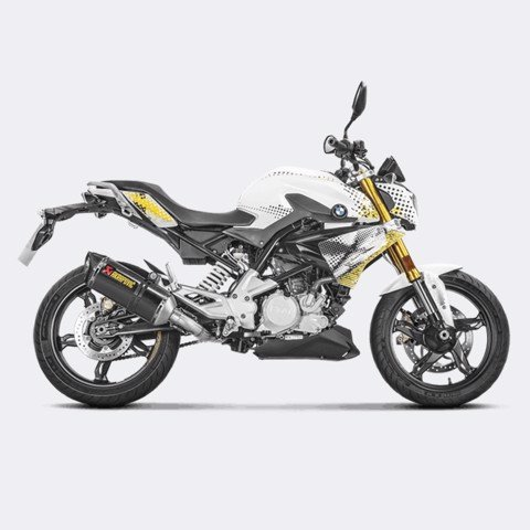 AKRAPOVIC BỘ PÔ FULL SYSTEM CARBON RACING LINE BMW G310R 2017 / G310GS 2018