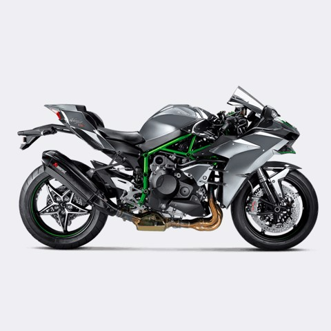 AKRAPOVIC KAWASAKI H2 SLIP-ON CARBON