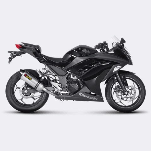 AKRAPOVIC KAWASAKI NINJA300 SLIP-ON CARBON