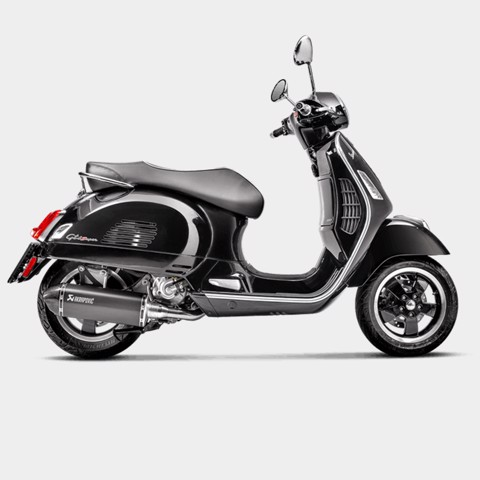 AKRAPOVIC LON PÔ SLIP-ON INOX BLACK VESPA GTS 300 2017