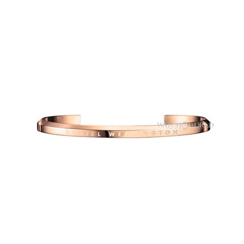 DANIEL WELLINGTON - CUFF Stainless Steel Rose Gold Size Small (DW00400003)