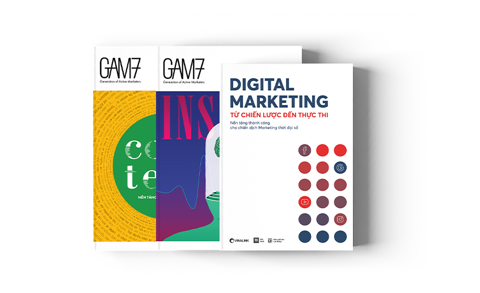 COMBO 3 cuốn marketing online gồm GAM7 5-6 - Content - Insight - Digital Marketing (Freeship & Tặng kèm BOX + phụ bản)