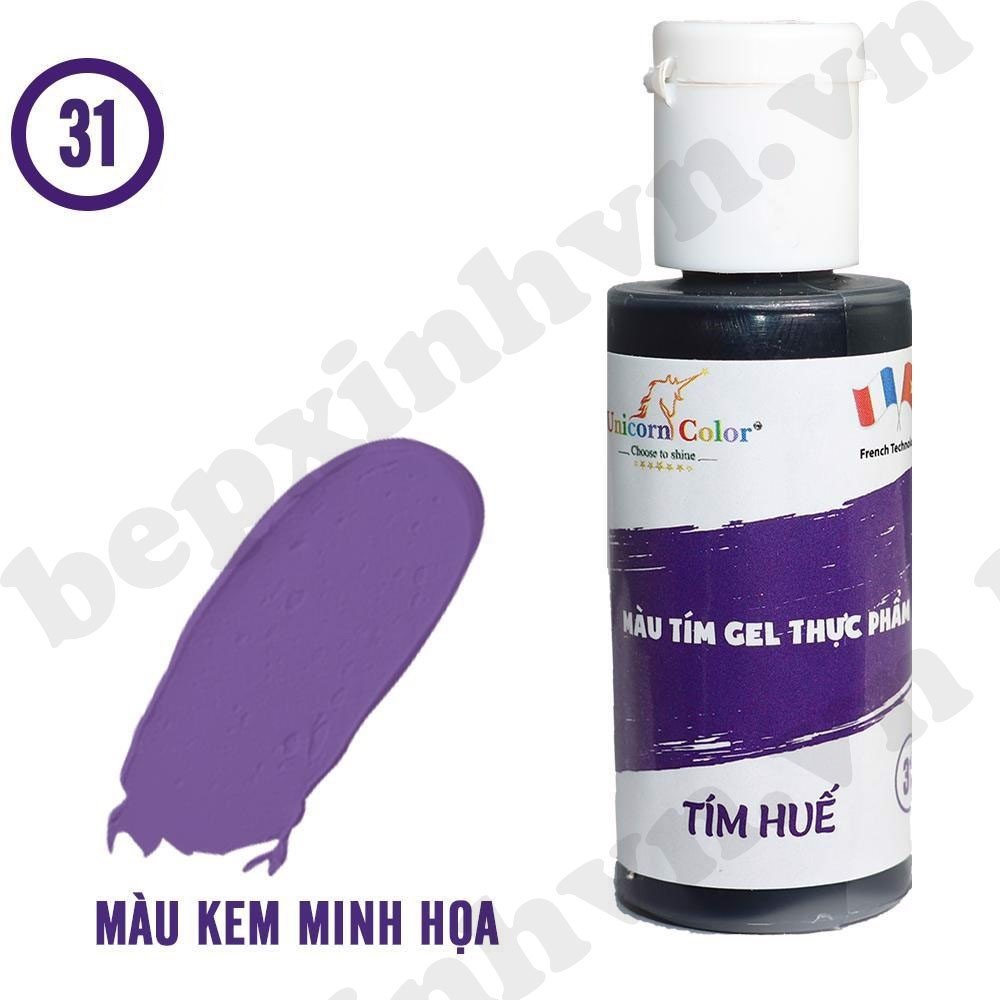 Màu gel tím huế Unicorn Color 28g