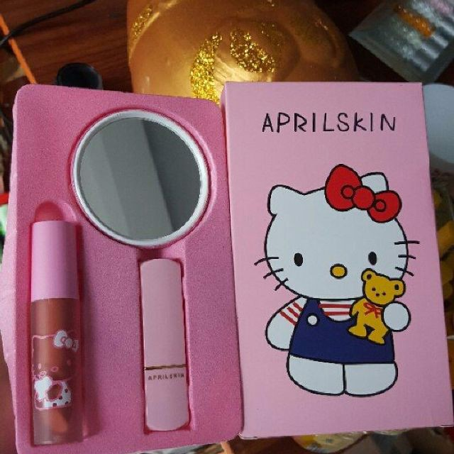 Set 3 món son môi Kitty Aprilskin
