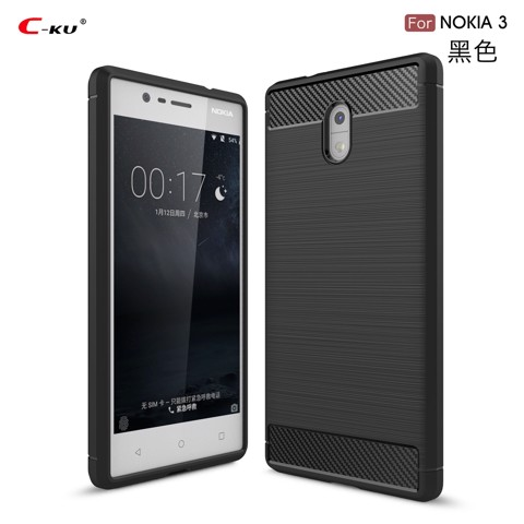 Ốp lưng silicon iPaky Carbon Fit Nokia 3