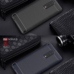 Ốp lưng silicon iPaky Carbon Fit Nokia 5
