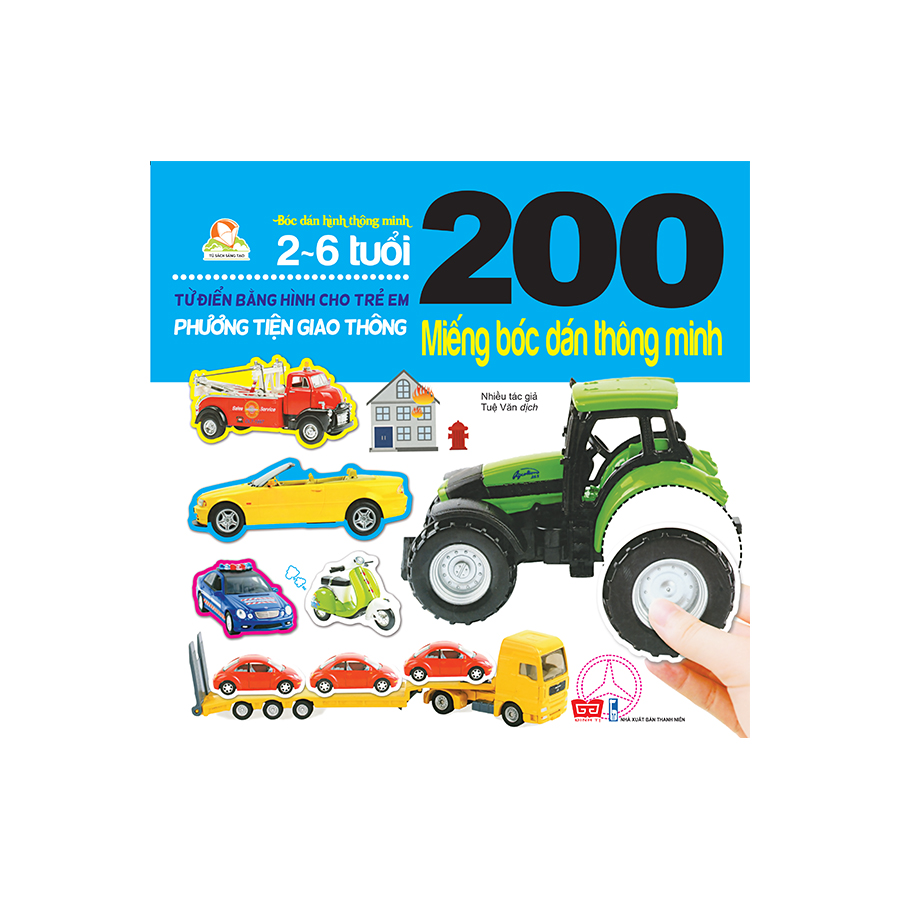 200 miếng bóc dán thông minh - Phương tiện giao thông (tái bản 2018)