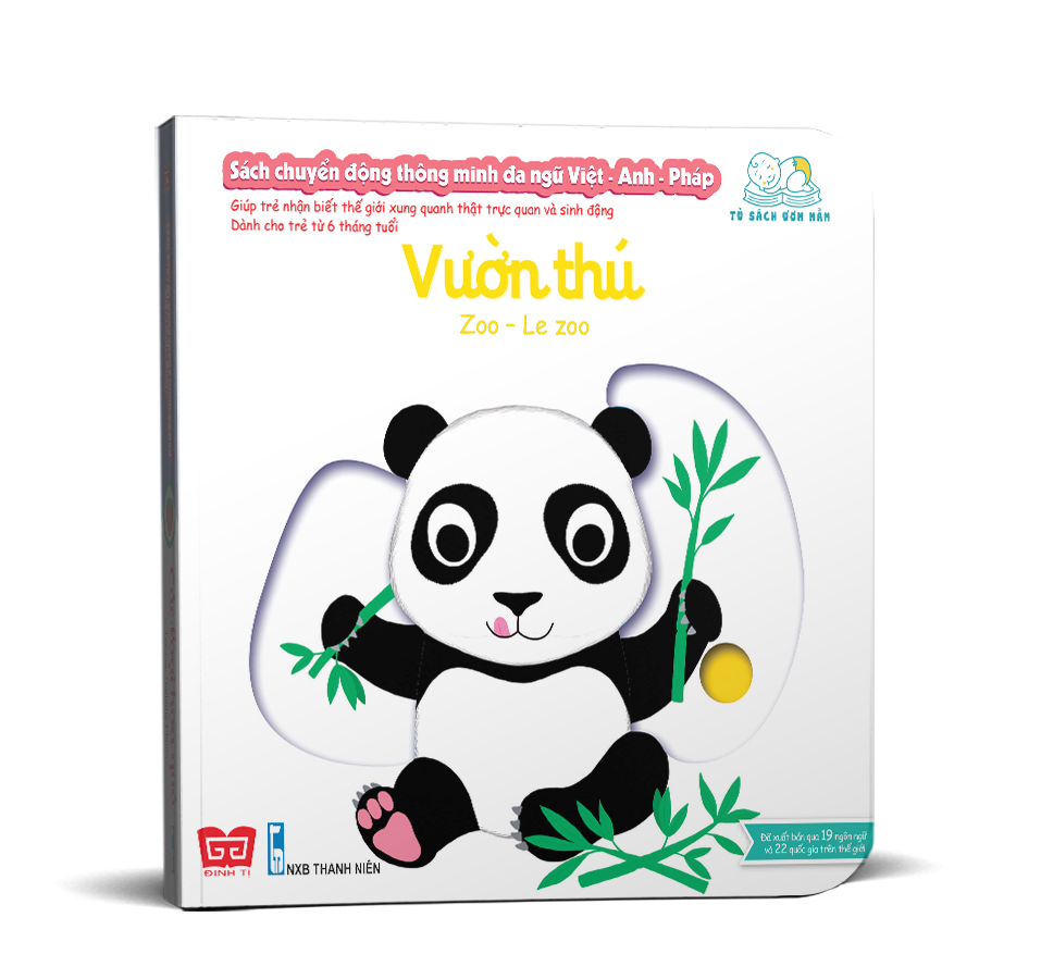 Sách chuyển động thông minh đa ngữ Việt - Anh - Pháp: Vườn thú – Zoo – Le zoo