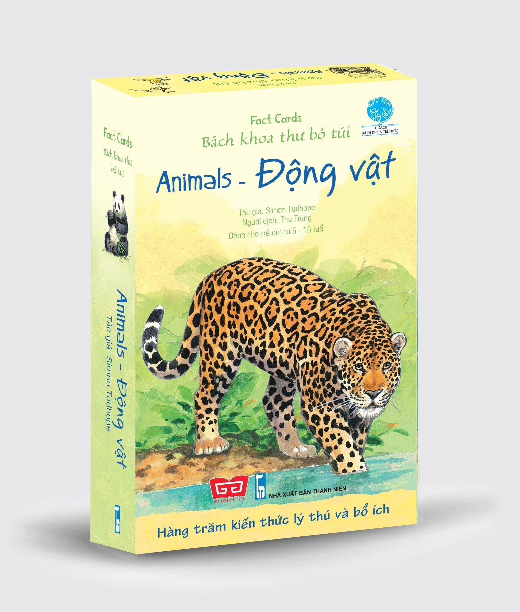 Fact cards - Bách khoa thư bỏ túi - Animals - Động vật