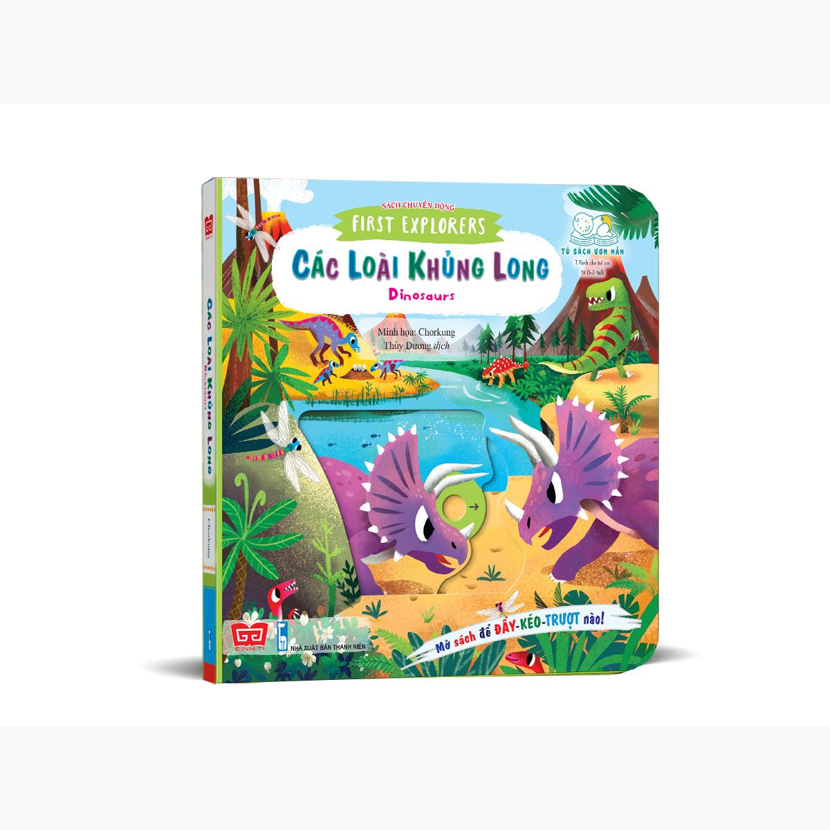 Sách chuyển động - First explorers - Dinosaurs - Các loài khủng long
