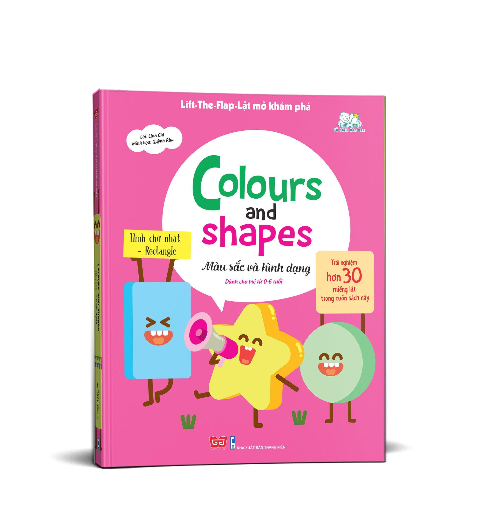 Lift-The-Flap-Lật mở khám phá - Colours and Shapes - Màu sắc và hình dạng