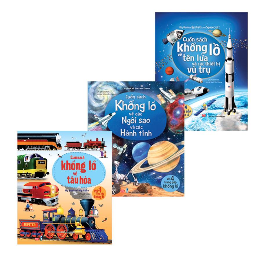 Combo Bigbook 3: ngôi sao hành tinh + thiết bị vũ trụ + tàu hỏa
