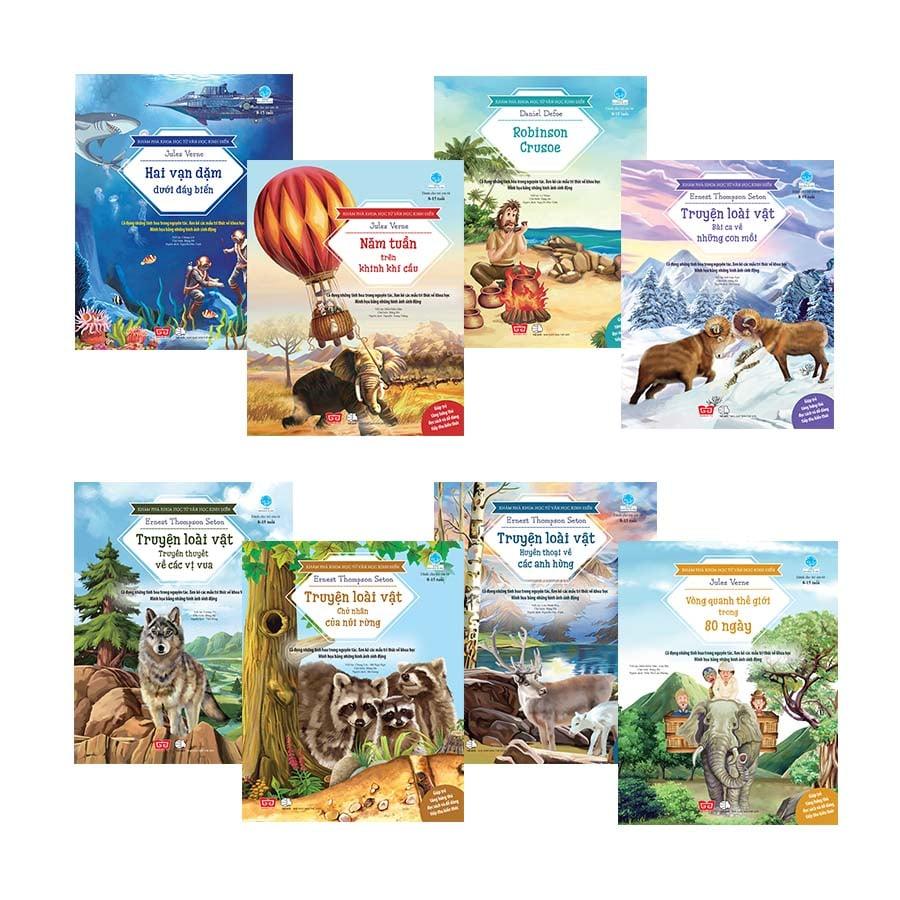 Set 8 cuốn Khám phá khoa học từ văn học kinh điển