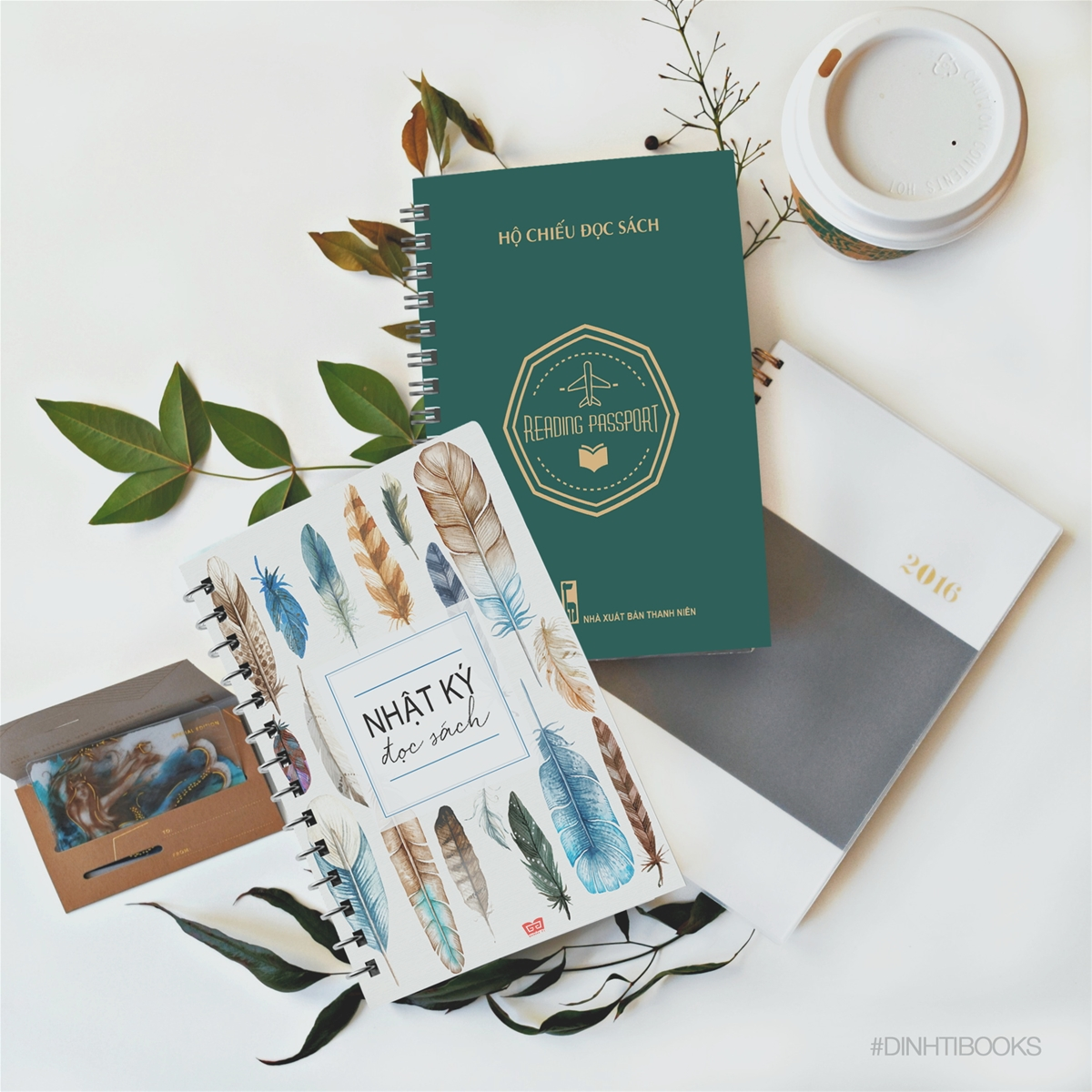 Combo  Sổ tay nhật ký đọc sách + Hộ chiếu đọc sách