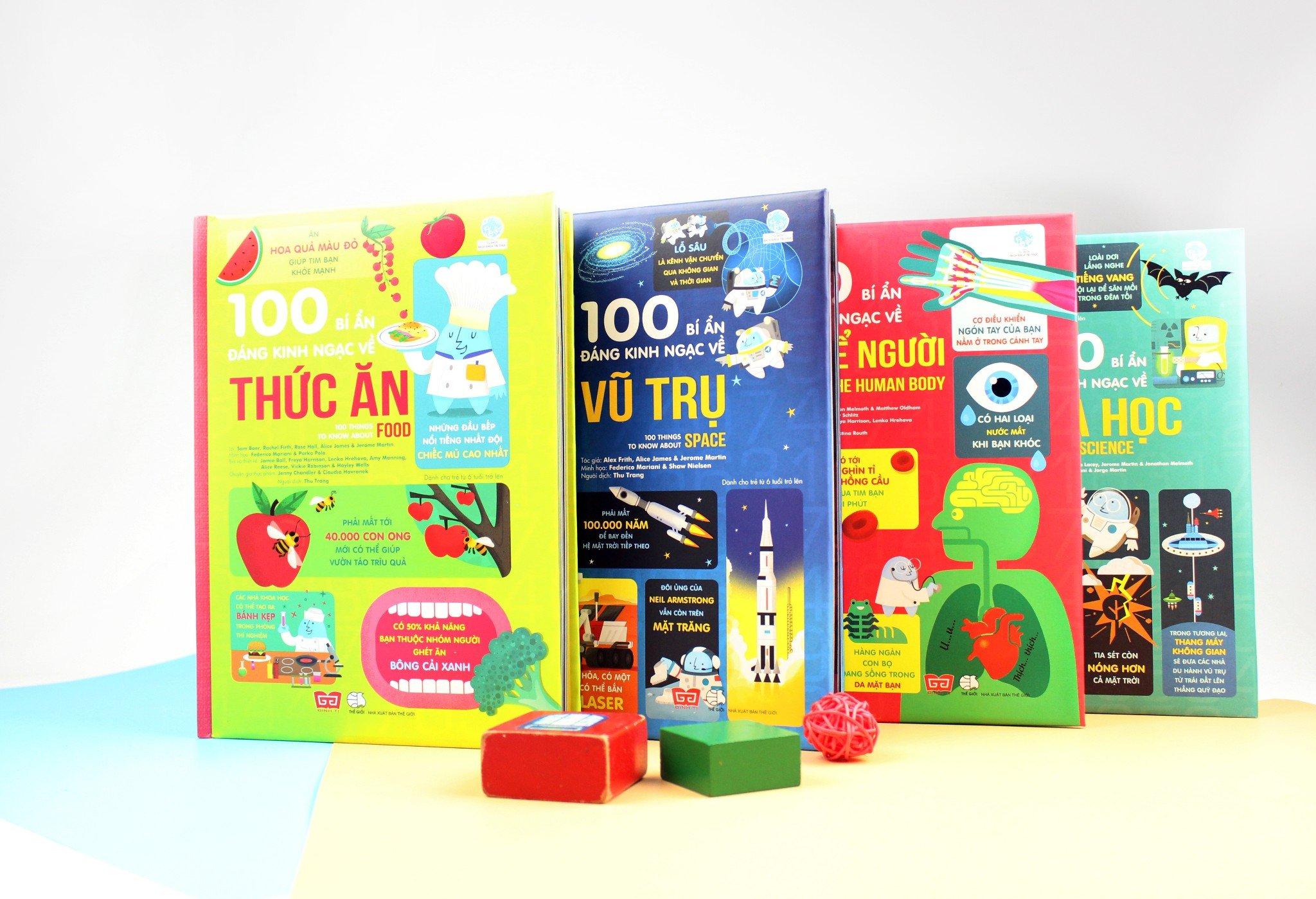 Set 4 cuốn 100 bí ẩn đáng kinh ngạc (USBORNE)