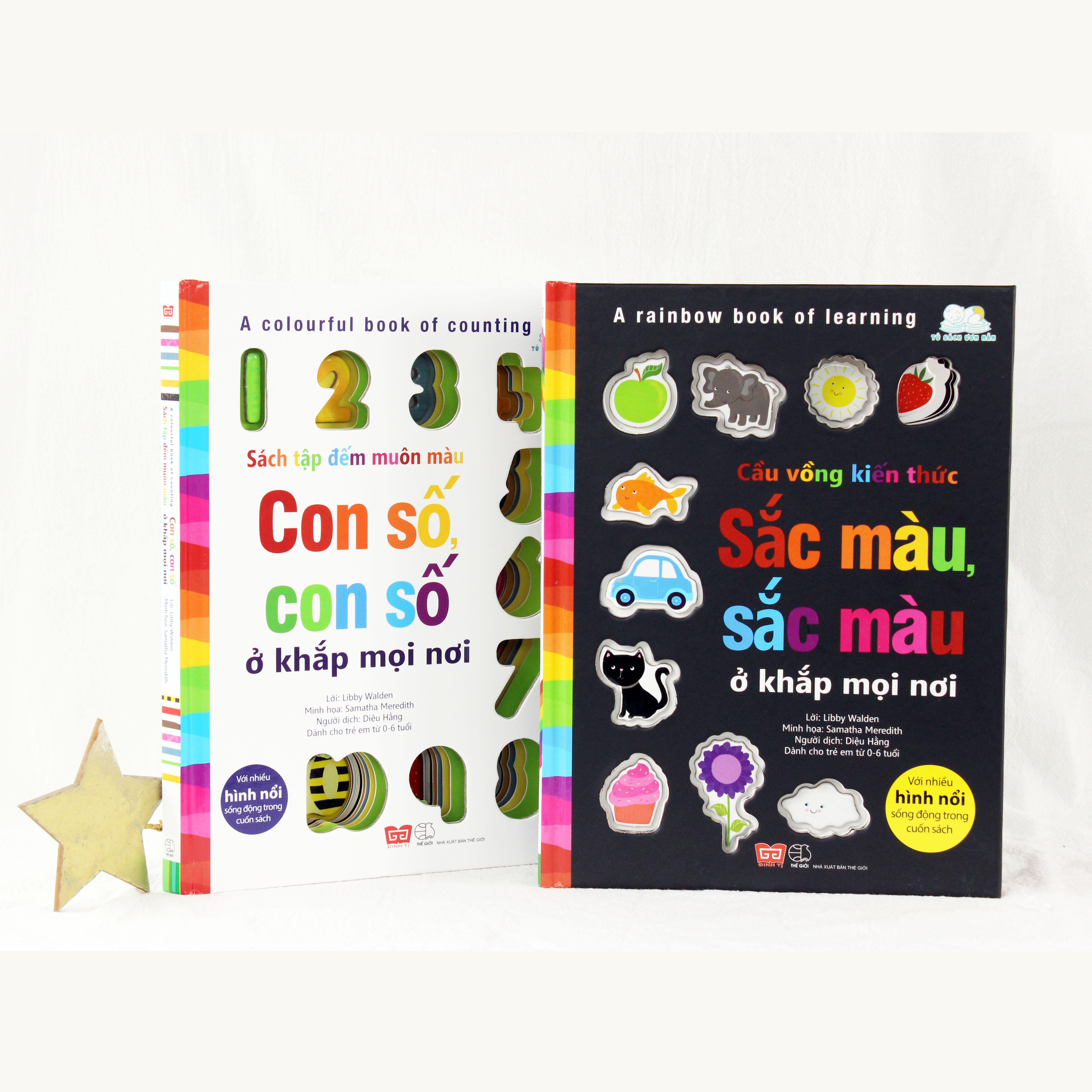 Set sách Cầu vồng kiến thức & Sách tập đếm muôn màu
