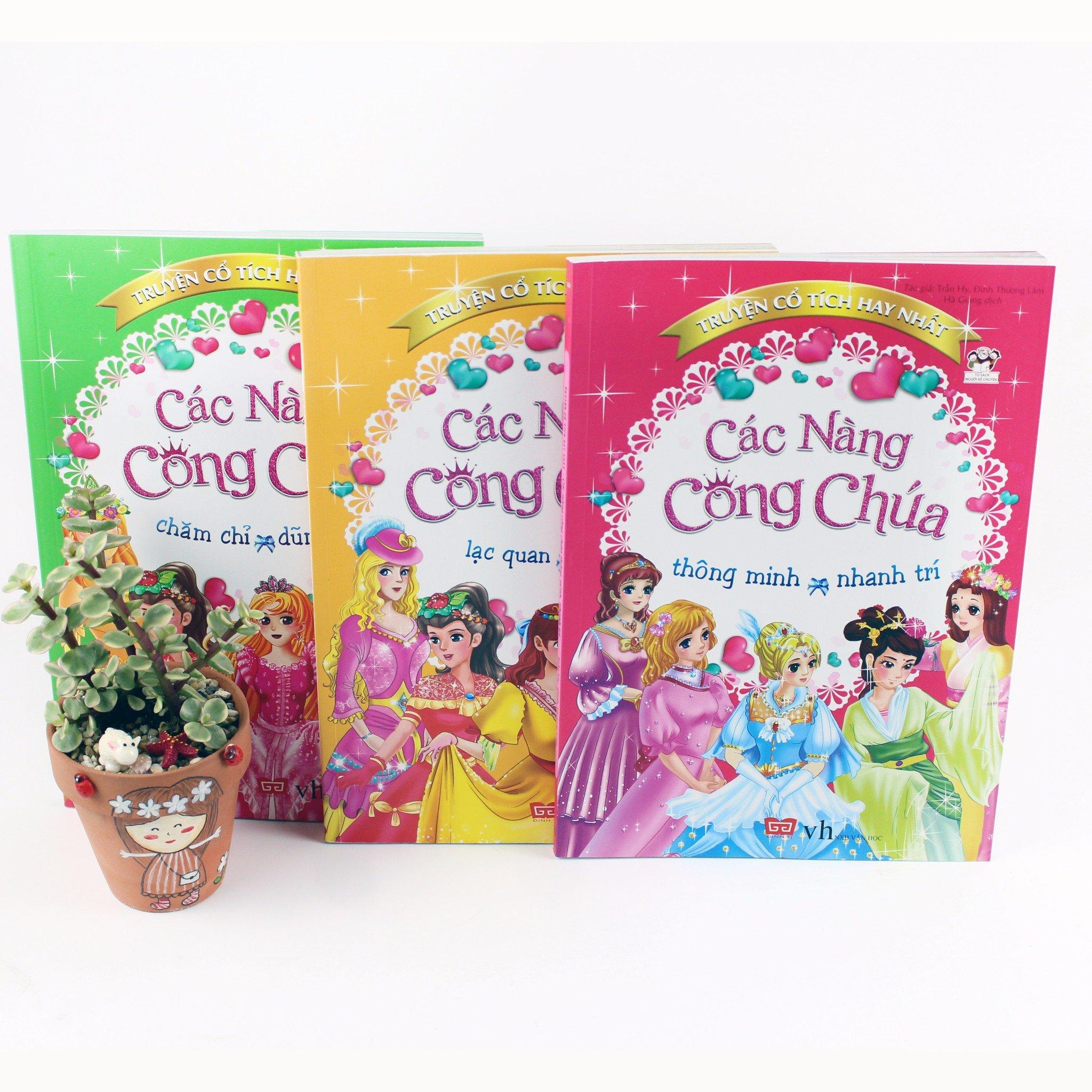 Combo Truyện cổ tích hay nhất gồm 3 cuốn: Các nàng công chúa thông minh, nhanh trí - Chăm chỉ, dũng cảm - Lạc quan, tự tin