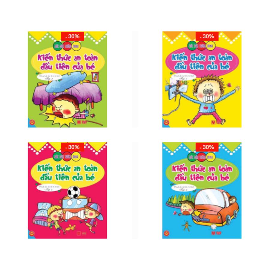 Combo: Bóc dán - Kiến thức an toàn cho bé 2-6 (4 tập)