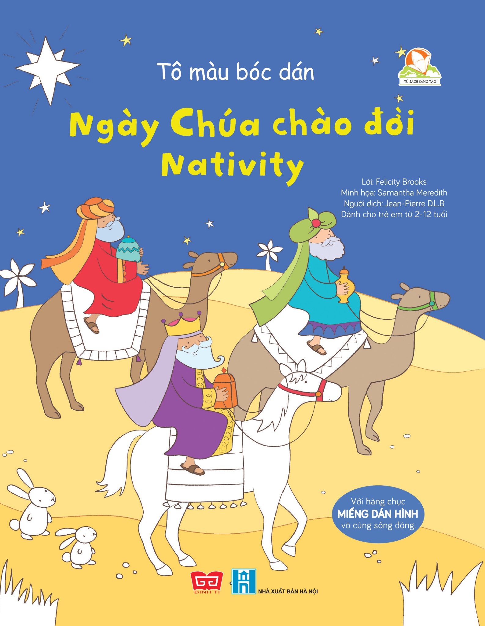 Tô màu bóc dán - Ngày Chúa chào đời - Nativity