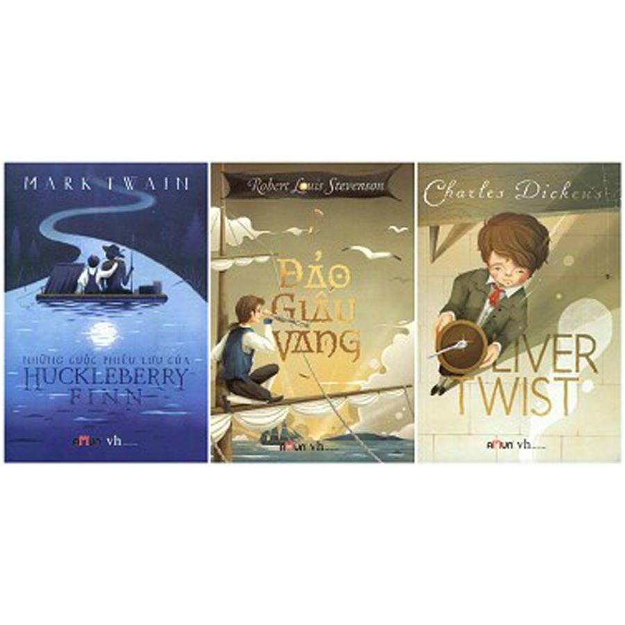 Combo: Huckleberry Finn + Oliver Twist + Đảo giấu vàng