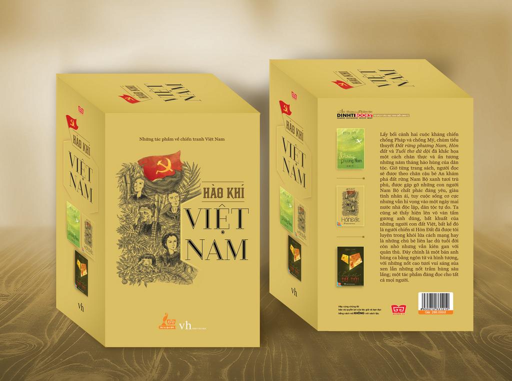 Hộp sách: Hào khí Việt Nam ( Những tác phẩm về chiến tranh Việt Nam: Đất rừng PN. Hòn đất. Tuổi thơ dữ dội)