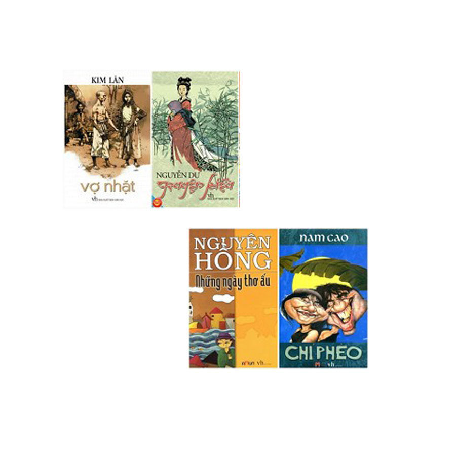 Combo: Truyện Kiều + Chí Phèo + Vợ nhặt + Những ngày thơ ấu