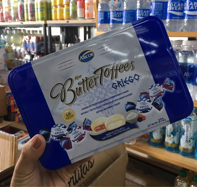 Kẹo Butter Toffees Griego hộp thiếc 272g