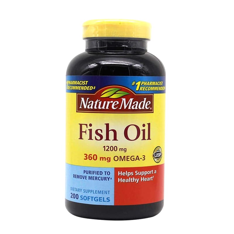 Dầu Cá Nature Made Fish Oil Omega-3 Mỹ