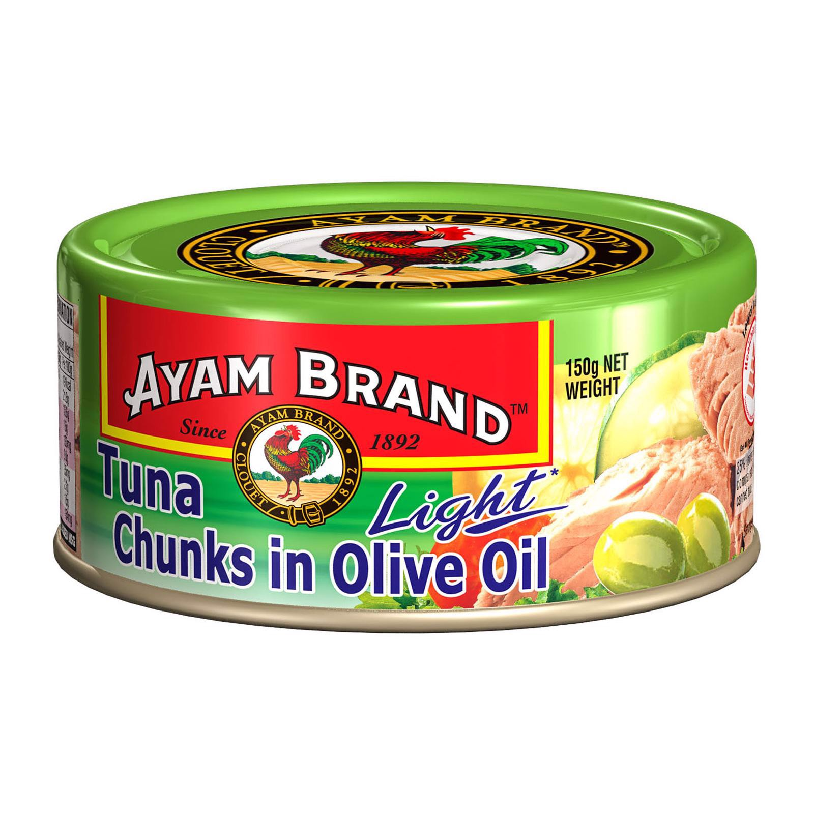 Tuna Chunks In Olives Oil hiệu Ayam Brand lon 150g