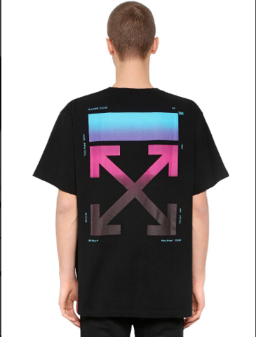 OFF WHITE OVERSIZED GRADIENT ARROWS JERSEY T-SHIRT 1:1