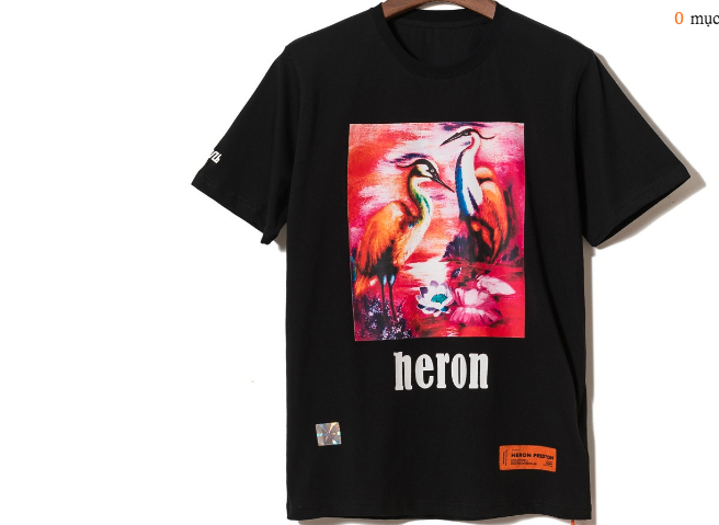 HERON PRESTON PRINTED COTTON JERSEY T-SHIRT