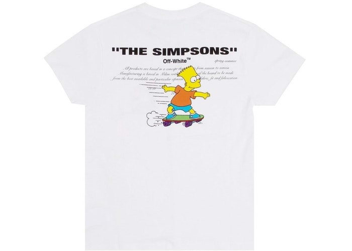 OFF-WHITE Homer And Bart T-Shirt 1:1