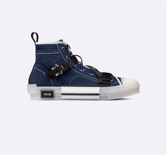 B23 HIGH-TOP SNEAKER (Blue Technical Canvas) (best)