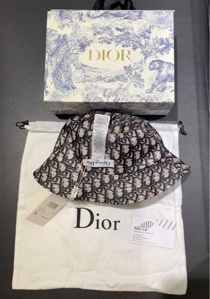 DIOR TEDDY D CD OBLIQUE BRIM BUCKET HAT