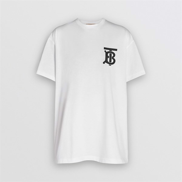 BURBERRY Monogram Motif Cotton Oversized T-shirt (1:1)