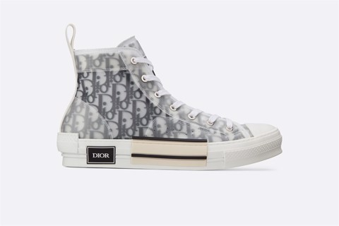 HIGH-TOP SNEAKERS IN DIOR OBLIQUE (1:1)